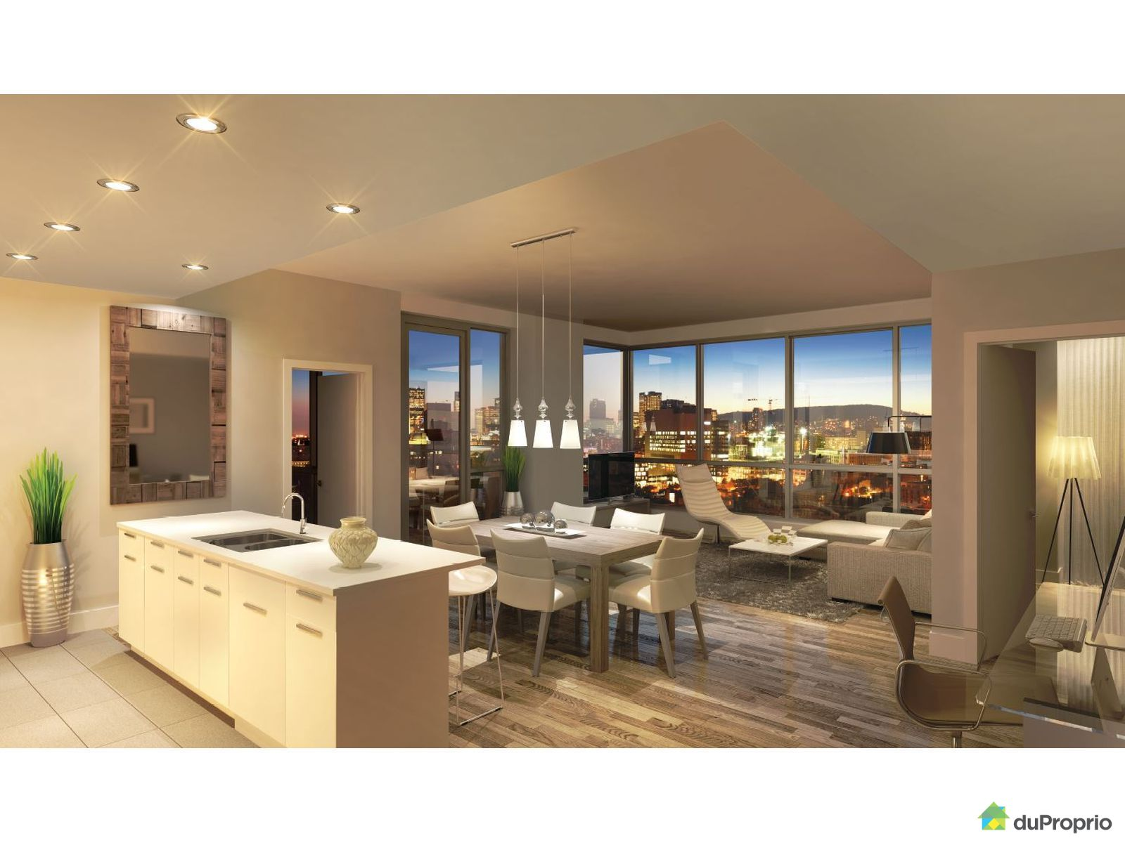 Newly built condo sold in montreal duproprio 594613 for La downtown condo for sale