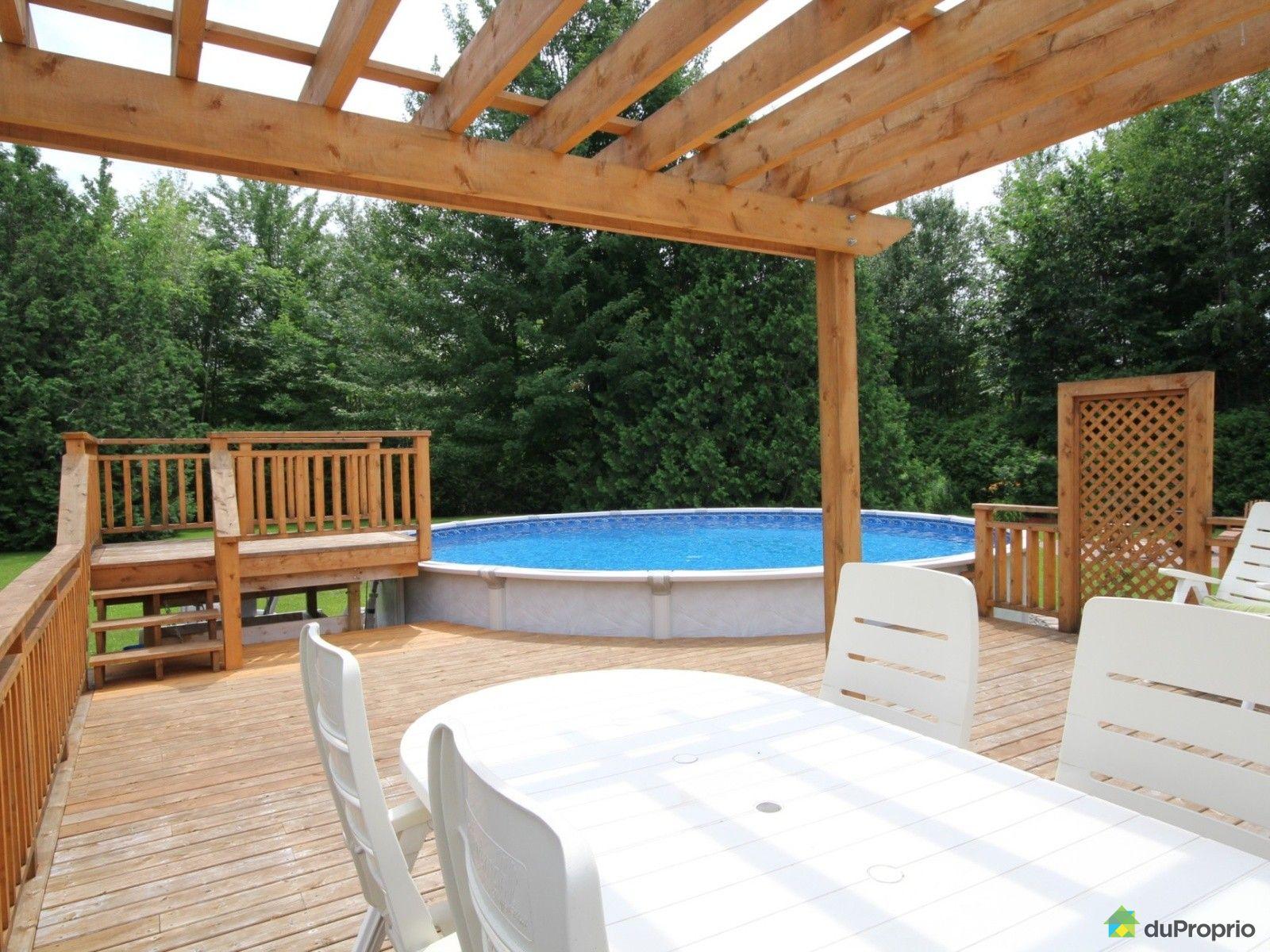 Maison vendu ste c cile de milton immobilier qu bec for Plan pour patio de piscine