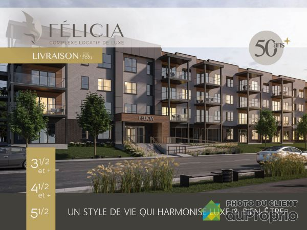 376, rue Fournier - Le Félicia - 3½ +, Granby à louer
