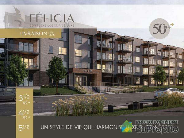 376, rue Fournier - Le Félicia - 4½, Granby à louer