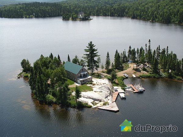 Aerial View - Ile no 2, La Tuque for sale