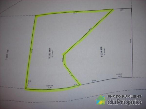 Lot plan -  chemin de la Jacques-Cartier Sud, Tewkesbury for sale