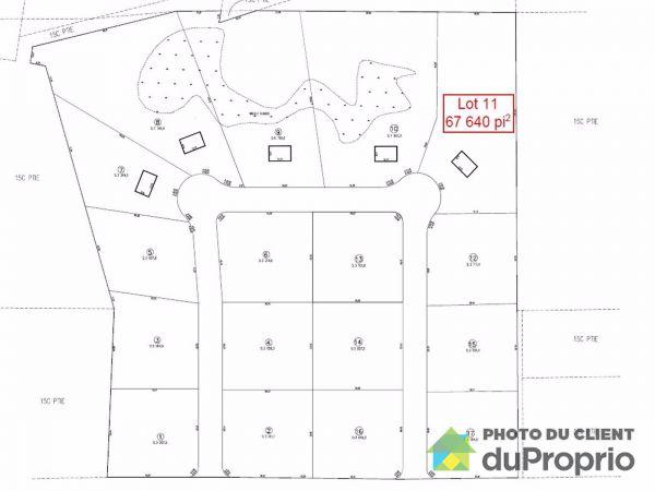Plan - lot 11 rue des Colibris, Rawdon for sale