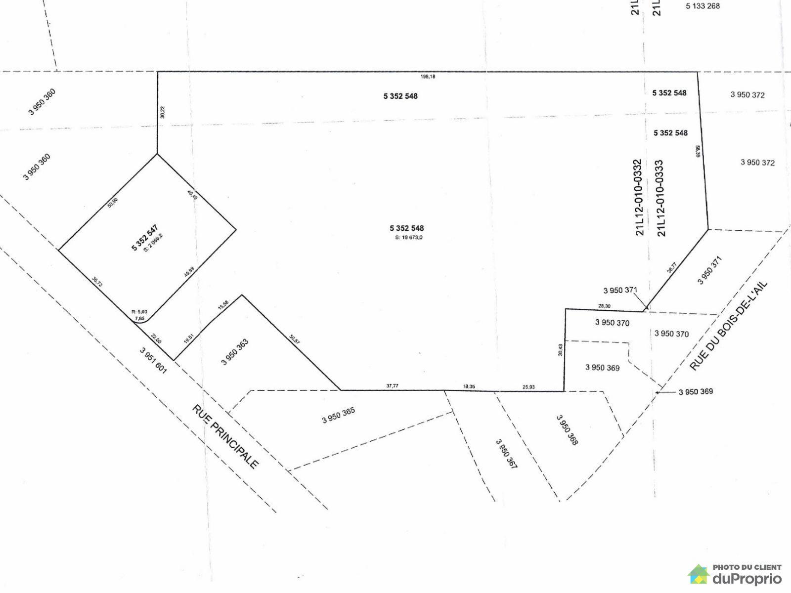 Terrain - 173, rue Principale, St-Flavien à vendre