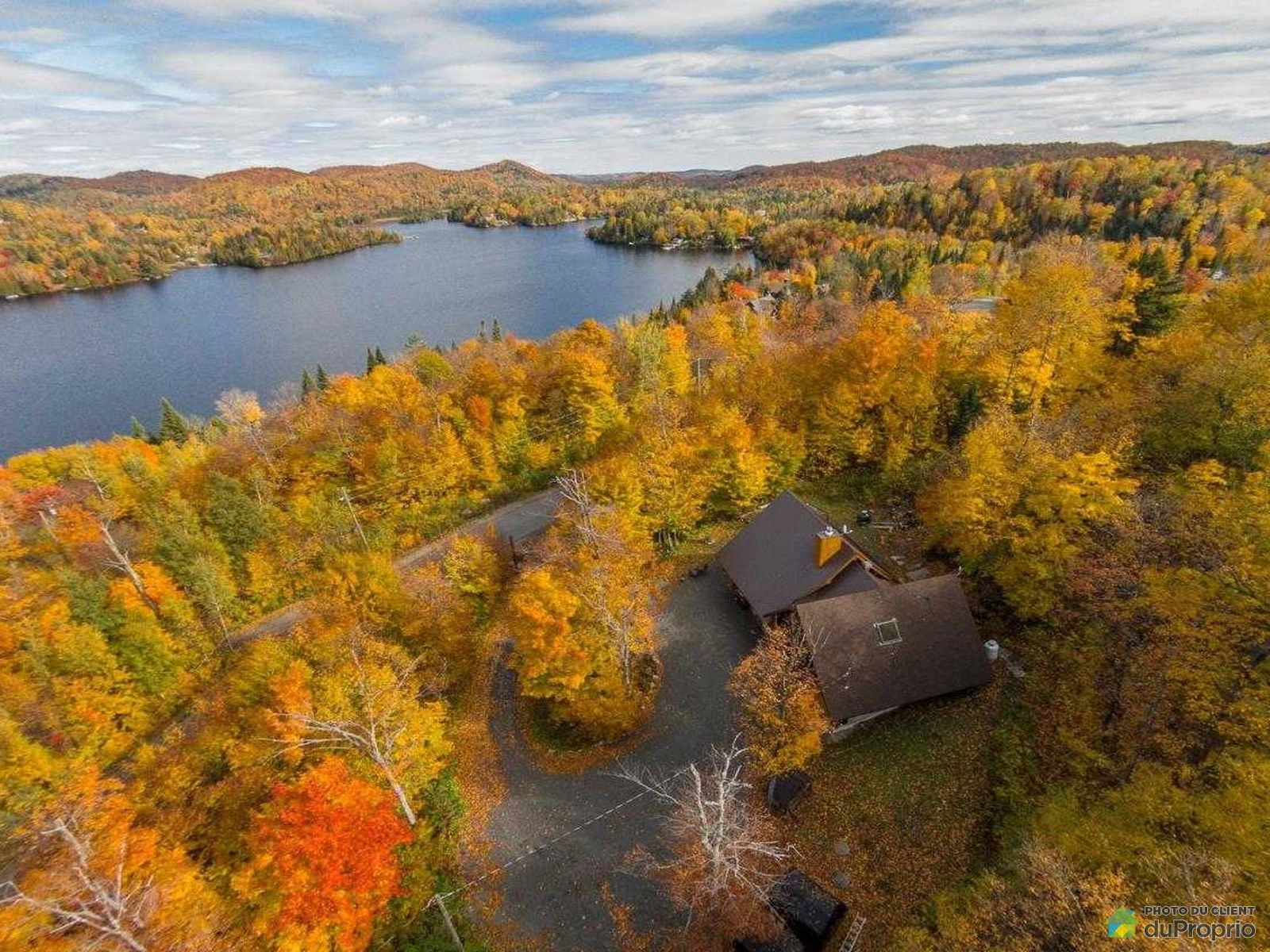 Aerial View - 4844 chemin du Lac-Théodore, Val-Morin for sale