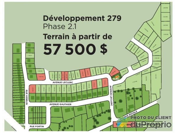 avenue Leclerc - Phase 2, St-Charles-De-Bellechasse for sale