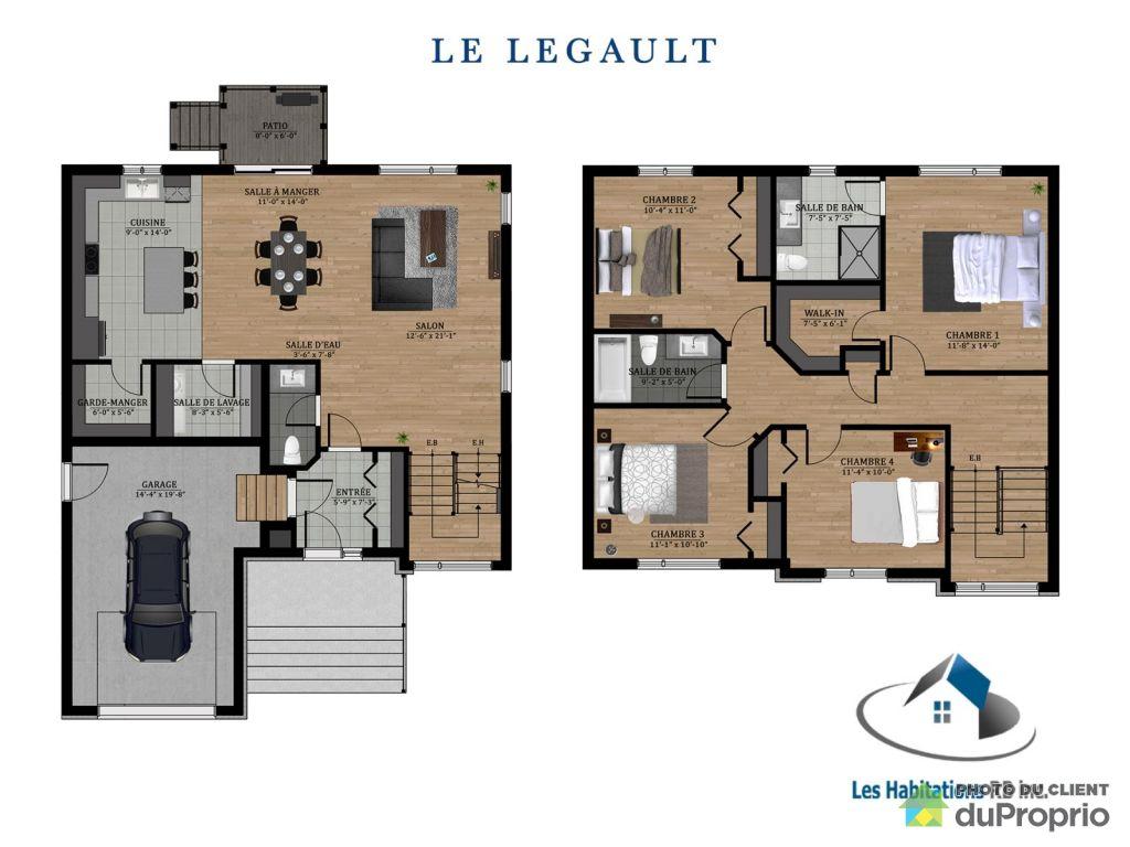26 Rue De La Ferme Modele Le Legault Par Les Habitations Rb Ste Martine A Vendre Duproprio