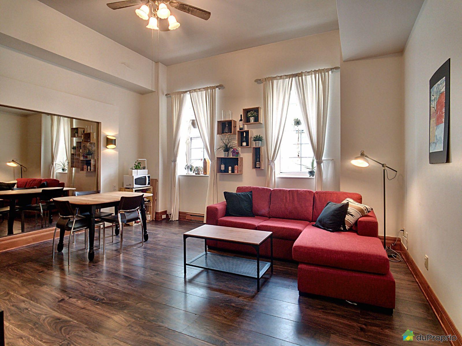 Living / Dining Room - 411-550 Grande Allée Est, Vieux-Québec for sale