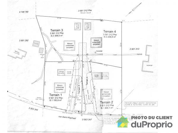 Plan -  rue Saint-Raphaël, La Malbaie (Cap-À-L'Aigle) for sale