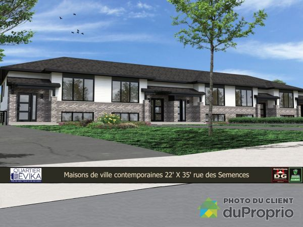 Side View - rue des Semences (par le chemin Harlaka) - QUARTIER LÉVIKA, Lévis for sale