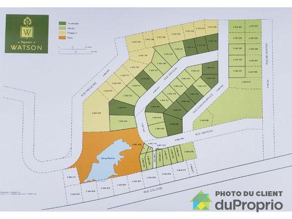 Plan - rue Watson, Sherbrooke (Lennoxville) à vendre