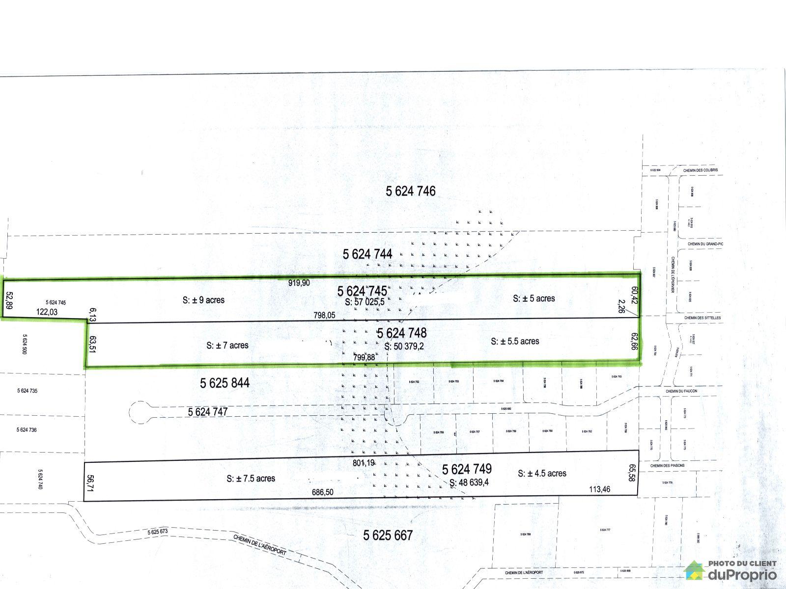 Plan du terrain - , chemin du Faucon, St-Donat à vendre