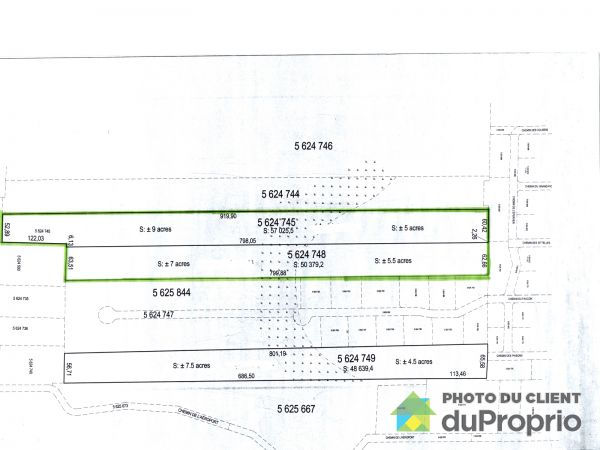 Lot plan -  chemin du Faucon, St-Donat for sale