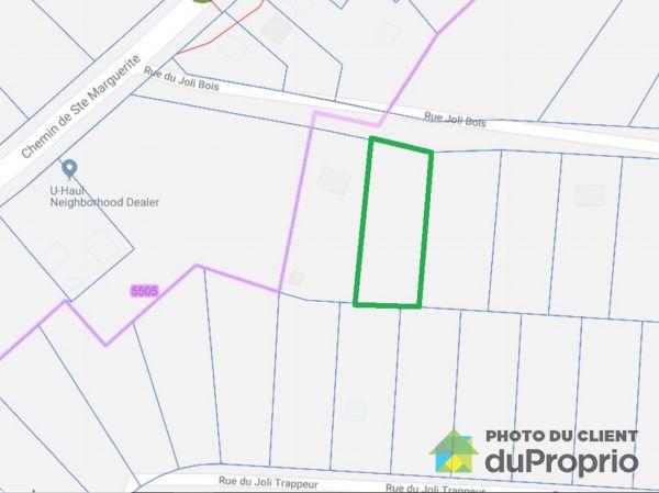 Vue aérienne - x, rue du Joli-Bois, Ste-Marguerite-Du-Lac-Masson à vendre