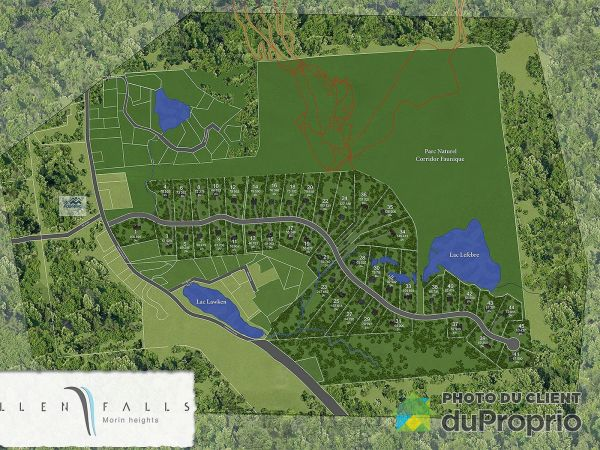 Plan - Projet Allen Falls phase 2, Morin-Heights à vendre