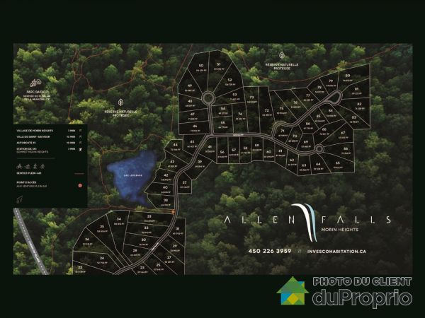 Projet Allen Falls phase 2, Morin-Heights for sale