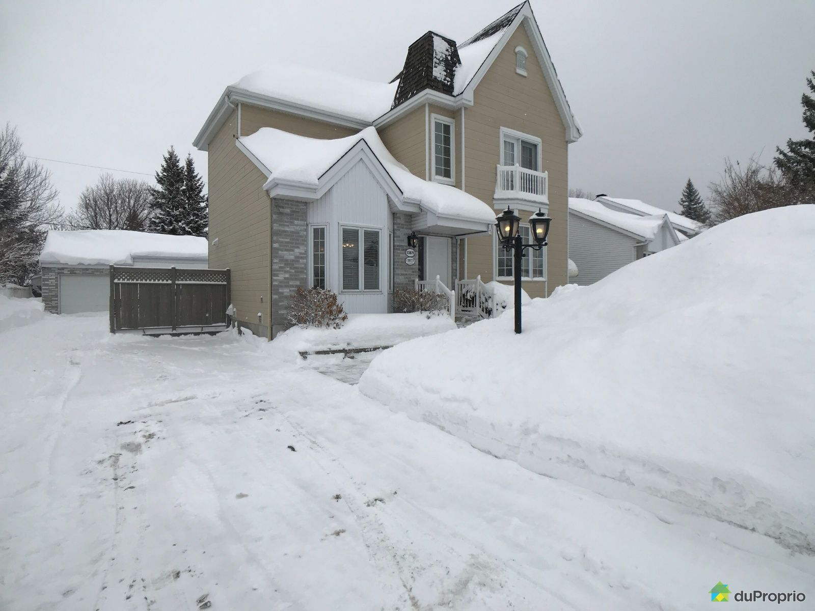 Winter Front - 13875 rue Lucie, Mirabel (St-Janvier) for sale