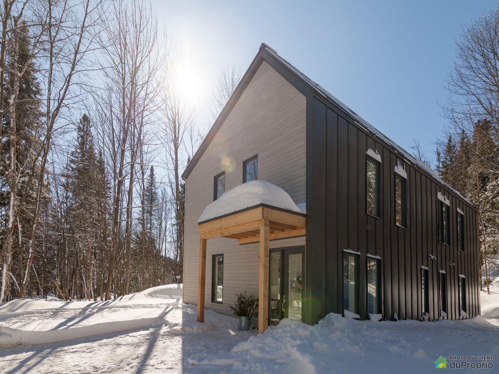 Winter Front - 116 rue du Lac Piché - Projet le Mésange - Par Biophile, Ste-Marguerite-Du-Lac-Masson for sale