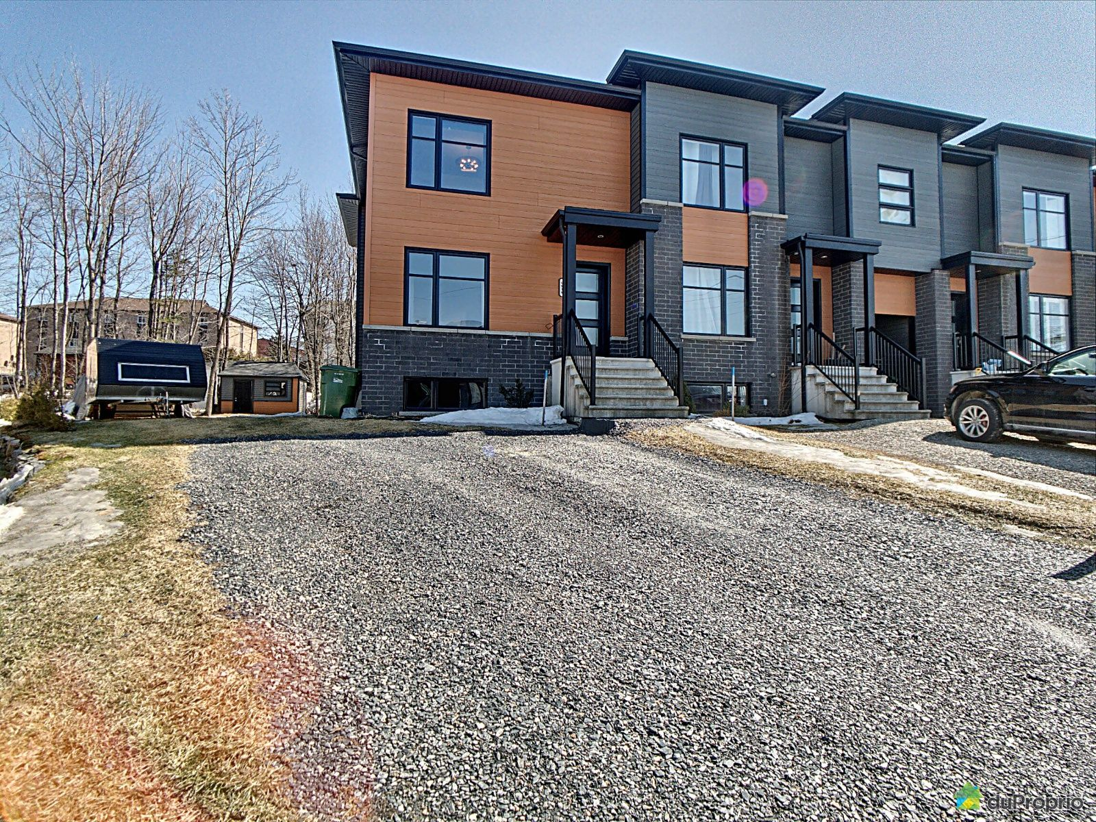 Cour avant - 4838, rue Maréchal, Sherbrooke (Rock Forest) à vendre