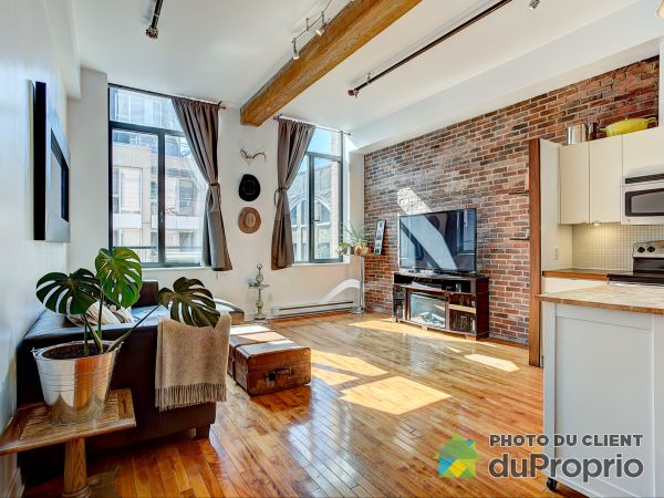 Living Room - 407-1015 rue William, Griffintown for sale