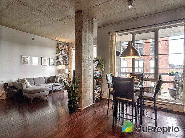 Dining Room / Living Room - 308-4150 rue Saint-Ambroise, Le Sud-Ouest for sale