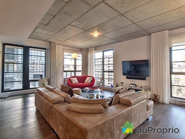 Living Room - 1007-1330 rue Olier, Griffintown for sale