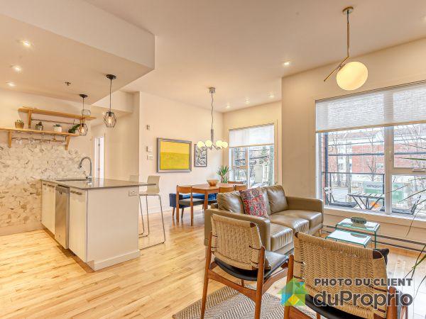 Living / Dining Room - 217-7230 rue Alexandra, Villeray / St-Michel / Parc-Extension for sale