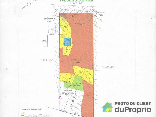 Plan du terrain - 124, chemin de la Montagne, Stoneham à vendre