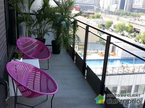 Balcony - 1406-1000 rue Ottawa, Griffintown for sale