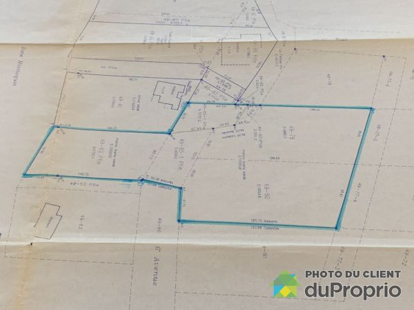 Plan du terrain - , 6e Avenue, St-Armand à vendre