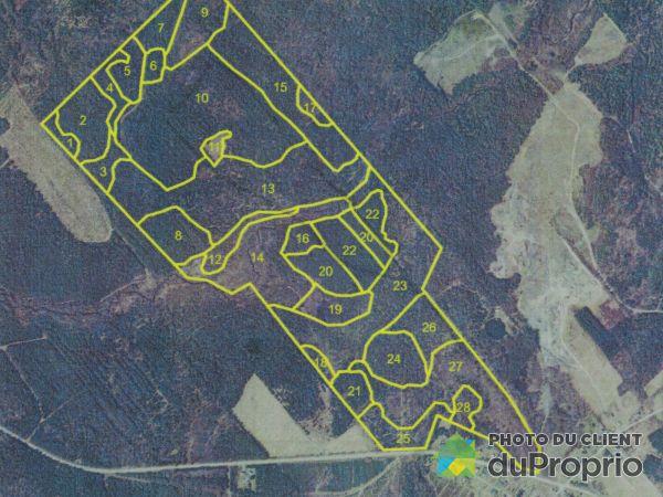 Plan du terrain - 1, chemin de la Mine, Weedon à vendre