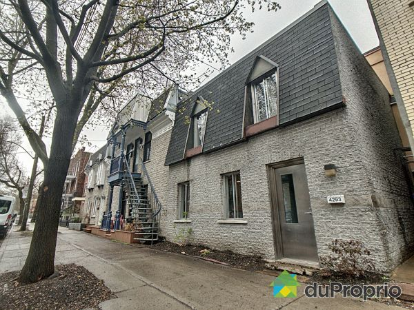 Street - 4293 rue de Brébeuf, Le Plateau-Mont-Royal for sale