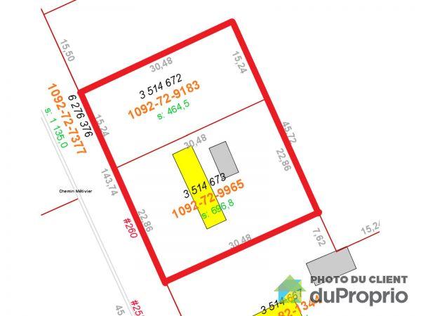 Plan du terrain - 260, rue Métivier, St-Raymond à vendre