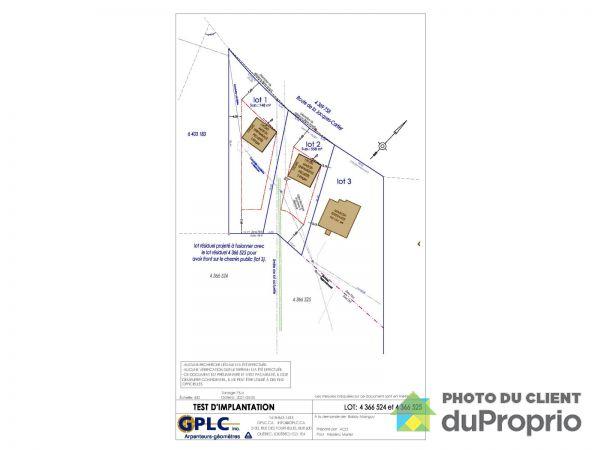 rue Bellevue - Par Construction C.R.D, Ste-Catherine-de-la-JC à vendre