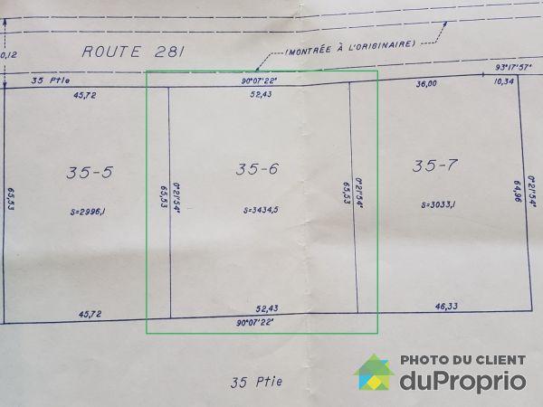 Lot plan - 1138 route 281, St-Philémon for sale