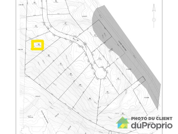 Lot plan - 33 Chemin du Nordet, La Pêche (Wakefield) for sale