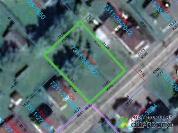 Plan du terrain - 245, RUE PRINCIPALE, St-Victor à vendre