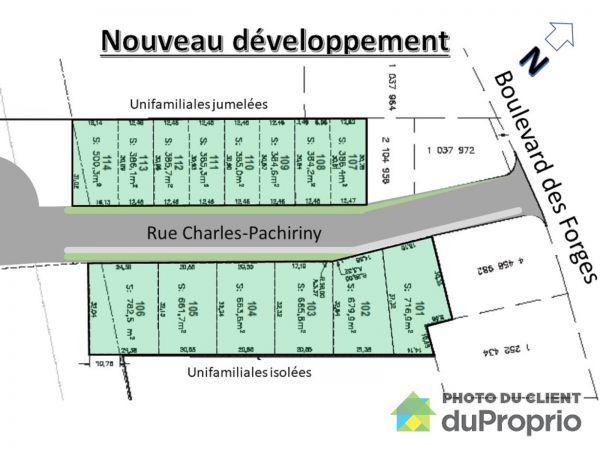 rue Charles-Pachiriny, Trois-Rivières (Trois-Rivières) à vendre