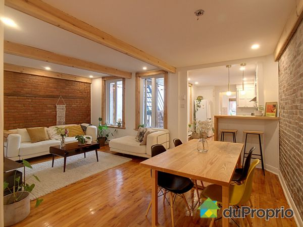 Salle à manger / Salon - 4380, rue Berri, Le Plateau-Mont-Royal à vendre