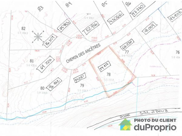 Lot -  chemin des Ancêtres, Morin-Heights for sale