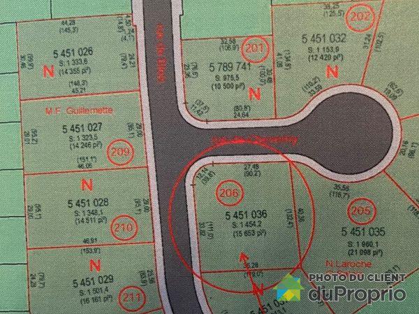Plan du terrain - , rue de Blois, Sherbrooke (Fleurimont) à vendre