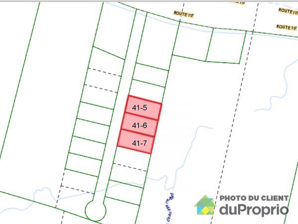 Plan du terrain - route 117, Ivry-Sur-Le-Lac à vendre