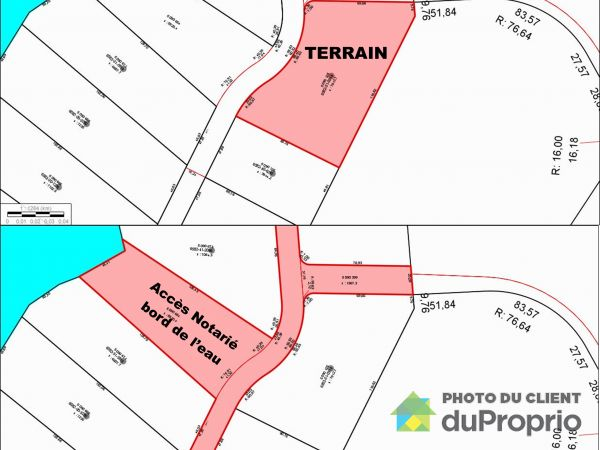 Plan du terrain - , chemin Nibi, Ferme-Neuve à vendre