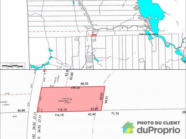 Plan du terrain - x, chemin de Val-Limoges, Mont-Laurier à vendre