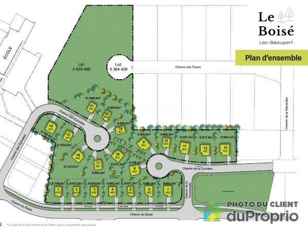 chemin du Boisé - Quartier Exalt - Par Constrobourg, Lac-Beauport à vendre