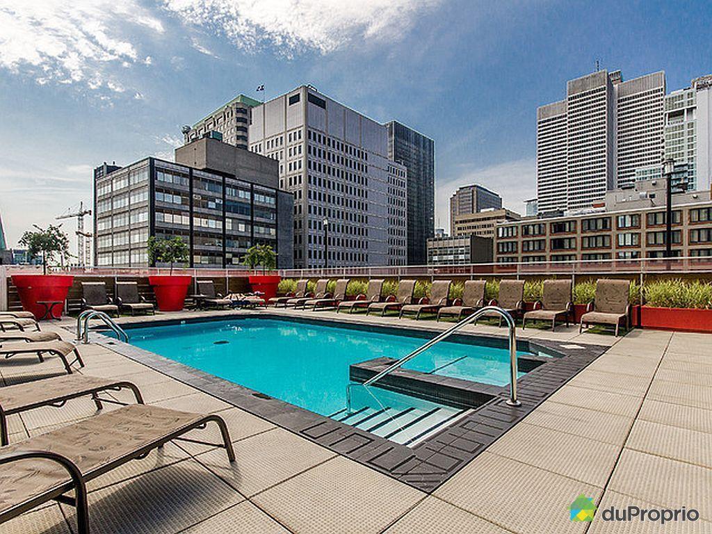 Condo vendu montr al immobilier qu bec duproprio 496705 for Appartement avec piscine montreal