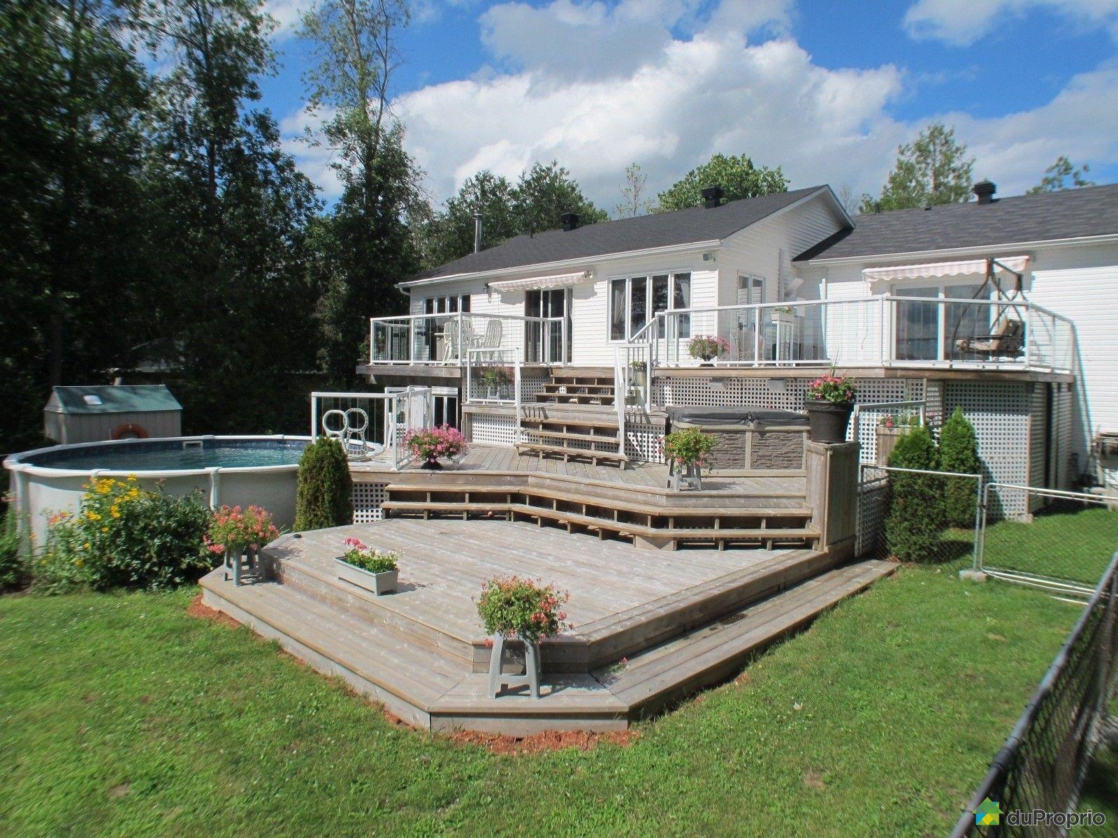 Bungalow sur lev vendu pontiac immobilier qu bec duproprio 532965 - Maison a vendre a spa ...