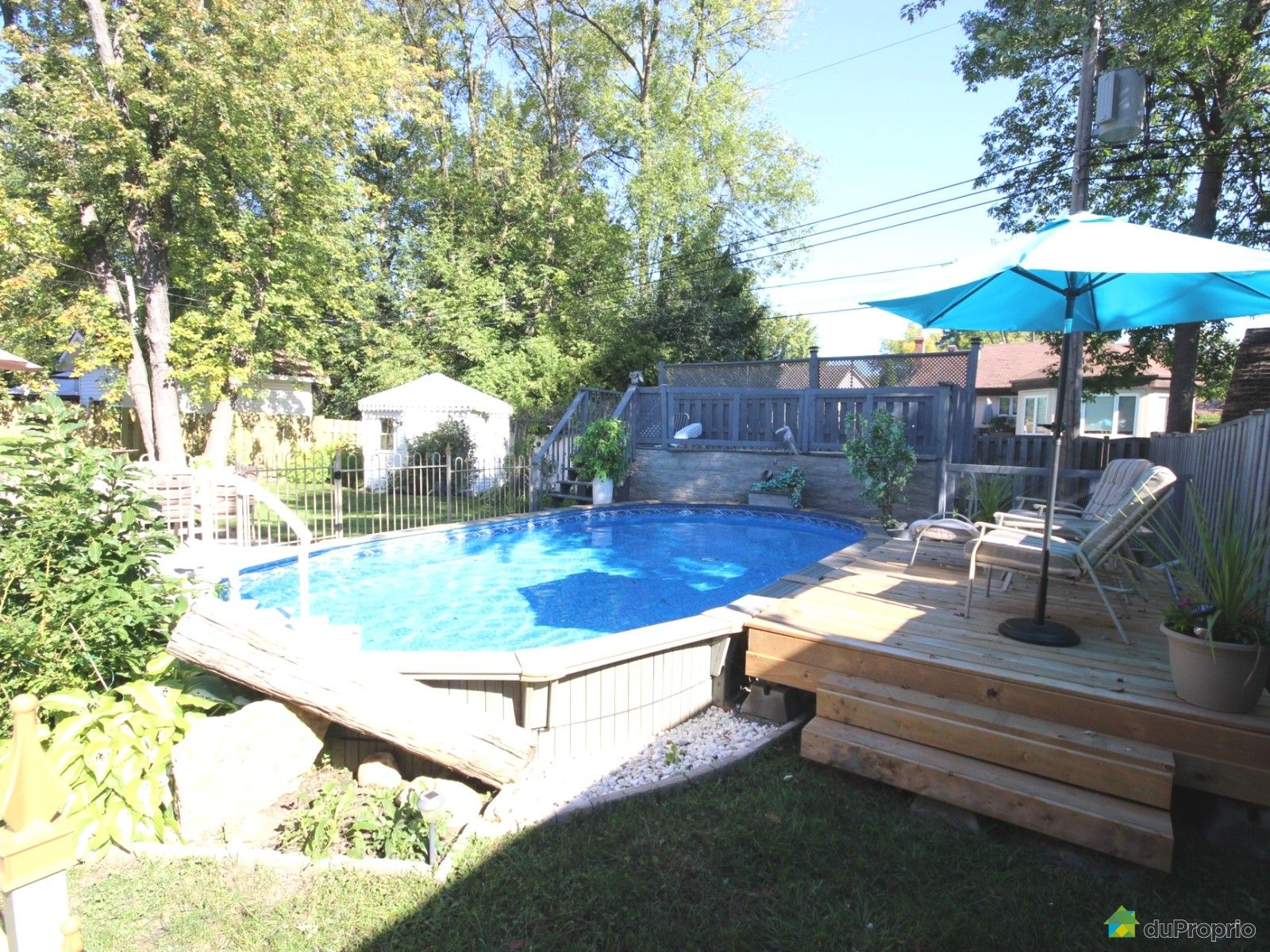 Maison vendu montr al immobilier qu bec duproprio 643490 for Cloture piscine montreal
