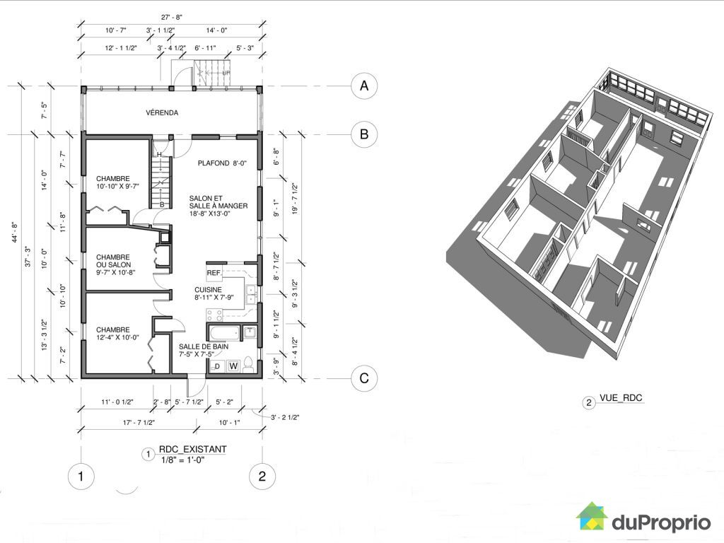 Duplex vendu sherbrooke immobilier qu bec duproprio for Plan maison duplex