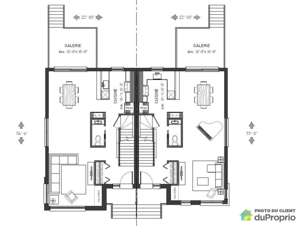 Plan De Studio Jumelée En Cote D Ivoire : Plan de maison jumele fabulous top awesome
